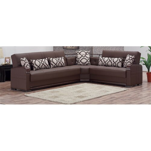Beyan Signature Alpine Convertible Sectional Sofa