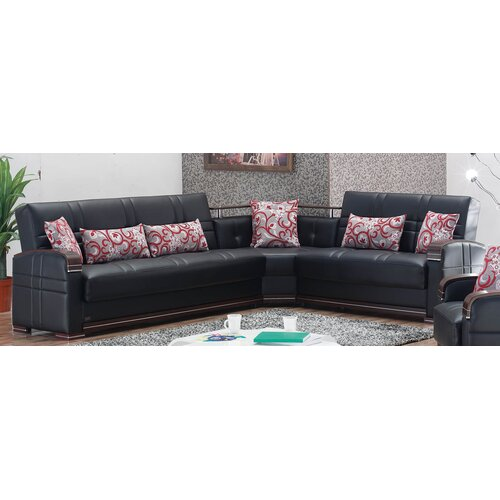 Beyan Signature Bronx Convertible Sectional Sofa