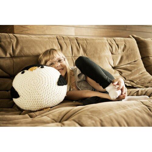 Peanut Butter Dynamite Crochet Acrylic Penguin Pillow