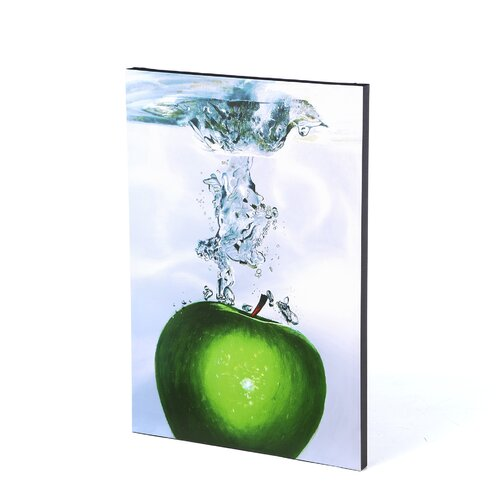 Trademark Fine Art 'Apple Splash II' by Roderick Stevens Photographic Print on Canvas