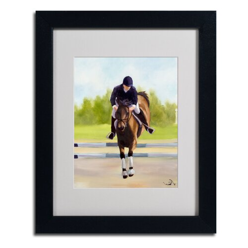 'Horse of Sport X' Matted Framed Art by Michelle Moate