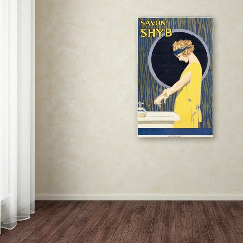 'Savon S H Y B' Canvas Art
