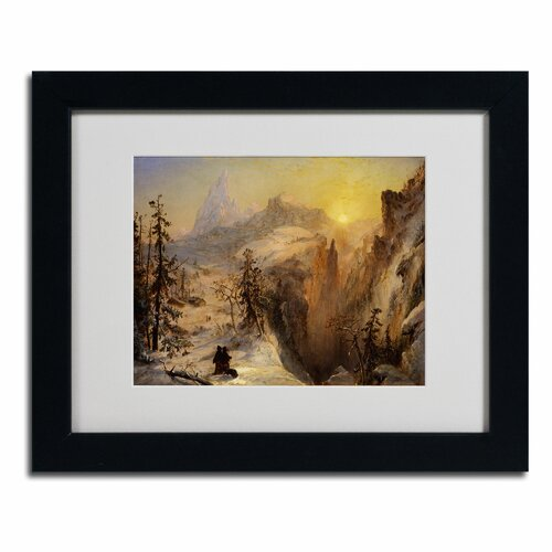 Jasper Cropsey 'Winter in Switzerland' Matted Framed Art