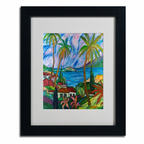 Manor Shadian 'Tropical Paradise' Matted Framed Art