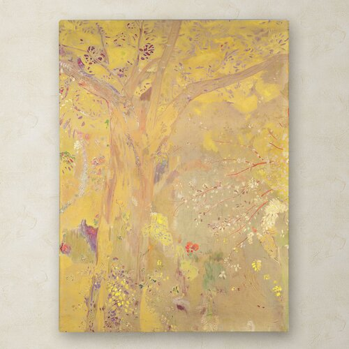 Odilon Redon 'Yellow Tree 1900' Canvas Art