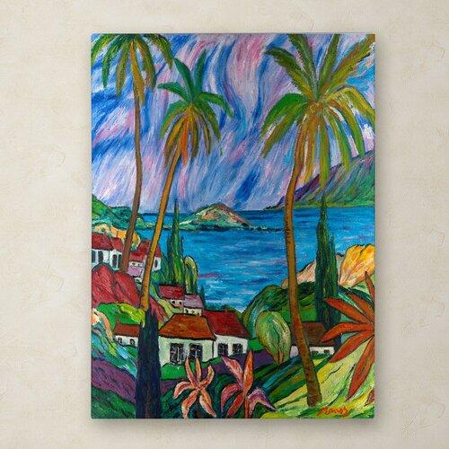 Manor Shadian 'Tropical Paradise' Canvas Art