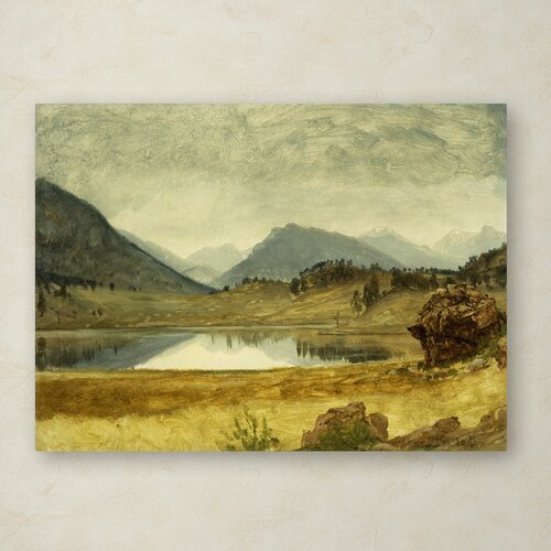 Albert Bierstadt 'Wind River Country' Canvas Art