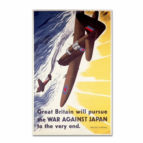 'Great Britain Will Pursue War Against Japan' Canvas Art