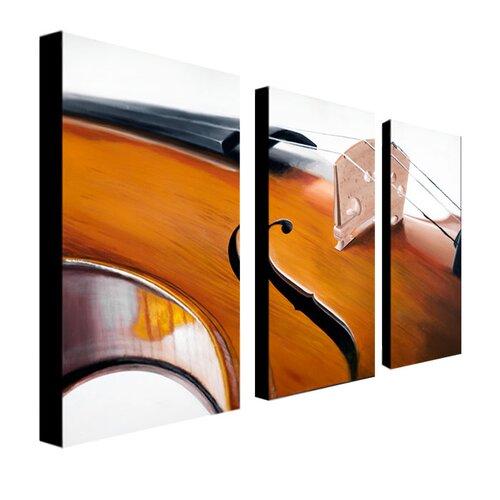 "Trademark Fine Art ""Music Store II"" by Roderick Stevens Photographic Print 3 Panel Art Set"