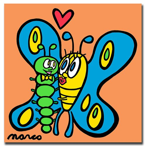 Trademark Fine Art Butterfly Caterpillar by Marco Canvas Art