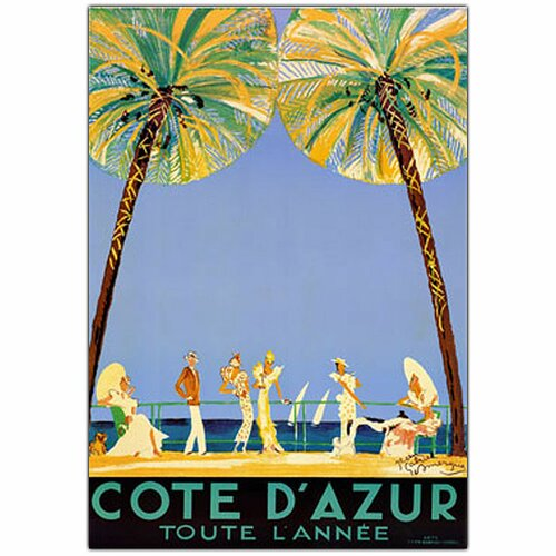 Trademark Fine Art 'Cote D'Azur' by Jean Dumergue Vintage Advertisment on Canvas