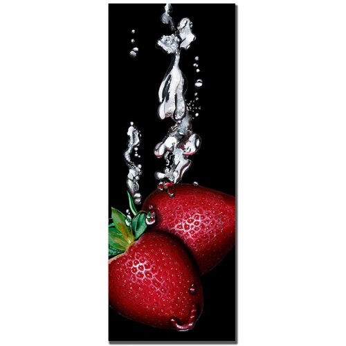'Strawberry Splash' by Roderick Stevens Photographic Print on Canvas