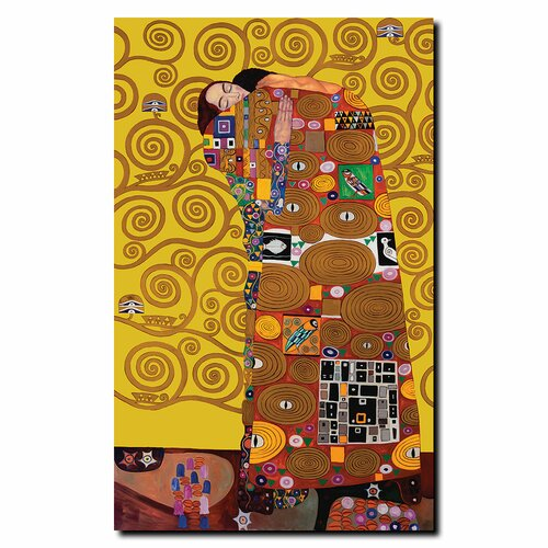 "Trademark Fine Art ""Fulfillment"" by Gustav Klimt Graphic Art on Canvas"