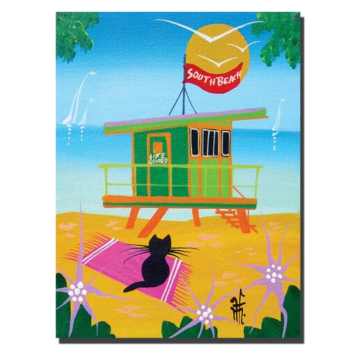 Trademark Fine Art Life Guard by Herbert Hoferon Painting Print on Canvas