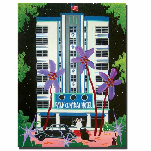 Trademark Fine Art Park Central by Herbert Hoferon Painting Print on Canvas