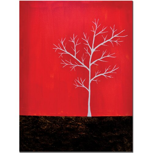 Trademark Fine Art 'Red on White Series' by Nicole Dietz Painting Print on Canvas