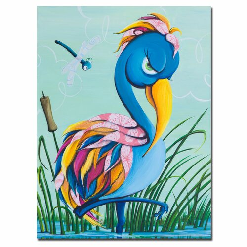 Trademark Fine Art Showbird by Sylvia Masek Canvas Art