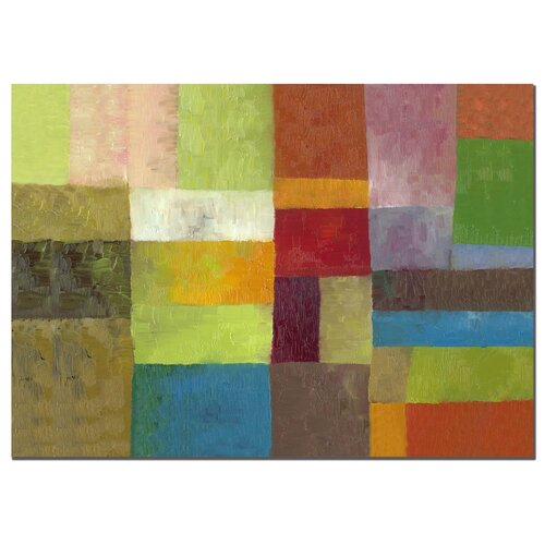 Trademark Fine Art 'Abstract Color Panels IV' by Michelle Calkins Painting Print on Canvas