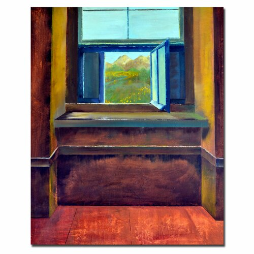 Trademark Fine Art 'The Open Window' by Michelle Calkins Painting Print on Canvas