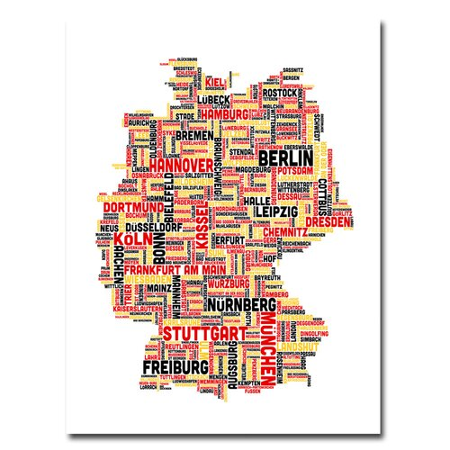 'Germany I' by Michael Tompsett Graphic Art on Canvas