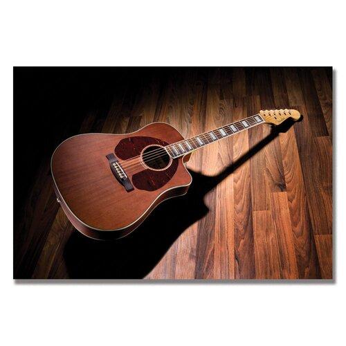 "Trademark Fine Art ""Mahogany Acoustic on Hardwood"" Photographic Print on Wrapped Canvas"