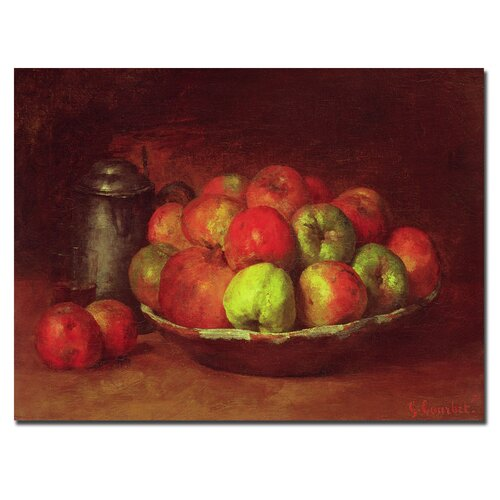 "Trademark Fine Art ""Still Life with Fruit, 1871-72"" by Gustave Courbet Painting Print on Canvas"