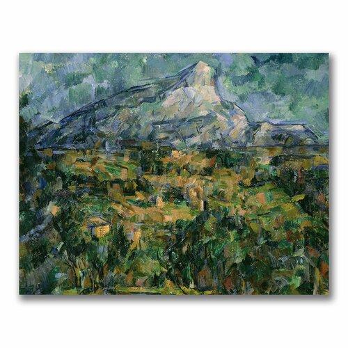 Mont Sainte-victoire With Large Pine Art Mont Sainte-victoire