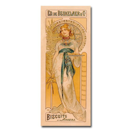 "Trademark Fine Art ""Biscuits Anvers, 1899"" by Ed. De Beukelaer and Co Vintage Advertisement on Canvas"