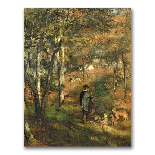 "Trademark Fine Art ""Jules Le Coeur  in the Forest"" by Pierre Renoir Painting Print on Canvas"