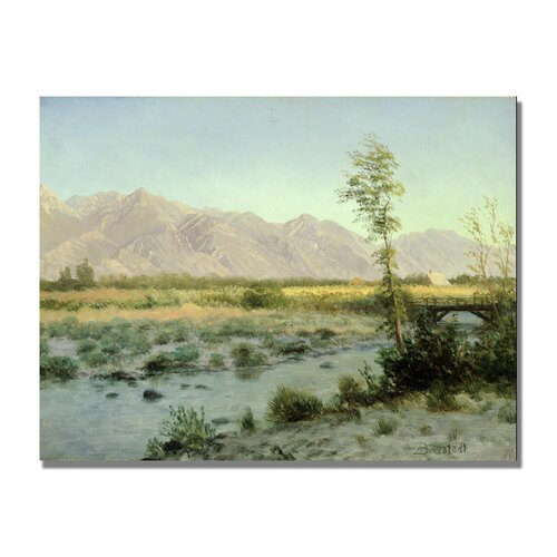 "Trademark Fine Art ""Prairie Landscape"" by Albert Bierstadt Painting Print on Canvas"