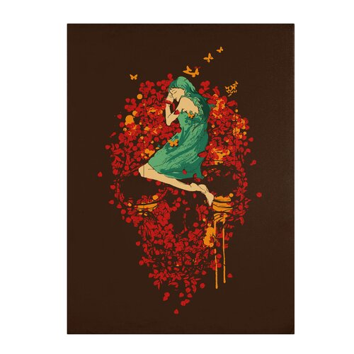 "Trademark Fine Art ""Roses are Red"" by Budi Satria Kwan Painting Print on Canvas"