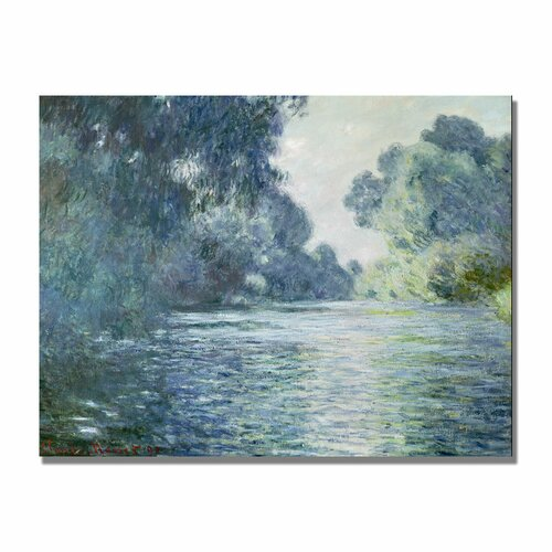 "Trademark Fine Art ""Branch of the Seine Near Giverny"" by Claude Monet Painting Print on Canvas"