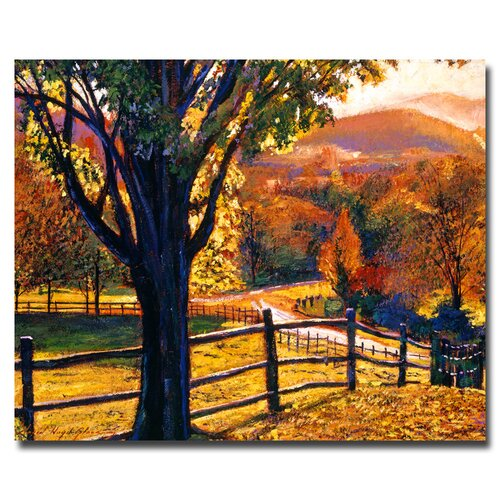 "Trademark Fine Art ""Autumn Fire Colors"" by David Lloyd Glover Painting Print on Canvas"