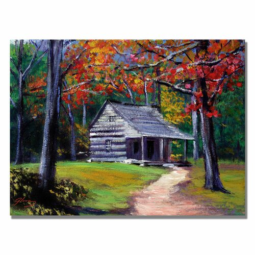'Old Cabin' by David Lloyd Glover Painting Print on Canvas