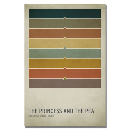 "Trademark Fine Art ""The Princess and the Pea"" by Christian Jackson Vintage Advertisement on Canvas"