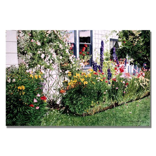 Trademark Fine Art 'The Tangled Garden' by David Lloyd Glover Painting Print on Canvas