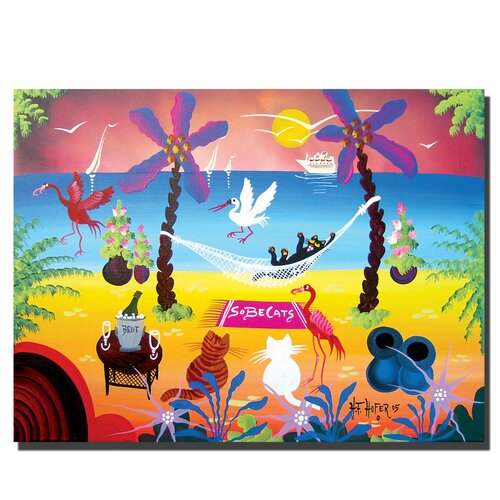 "Trademark Fine Art ""Sobe Cats"" by Herbet Hofe Painting Print on Canvas"