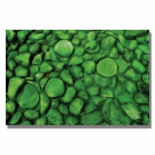 'Green River Rocks' by Kathie McCurdy Painting Print on Canvas
