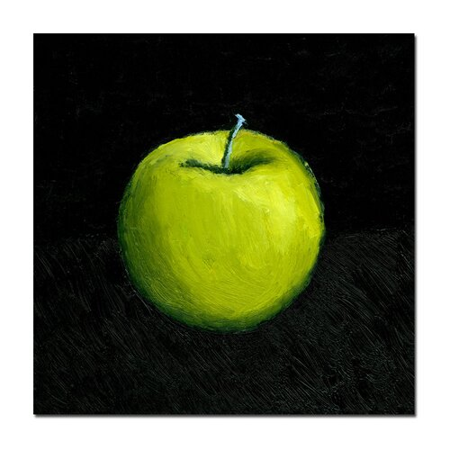 "Trademark Fine Art ""Green Apple Still Life"" by Michelle Calkins Painting Print on Canvas"