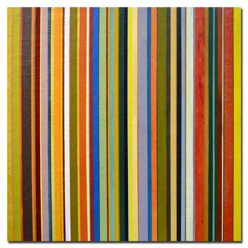 "Trademark Fine Art ""Comfortable Stripes"" by Michelle Calkins Graphic Art on Canvas"