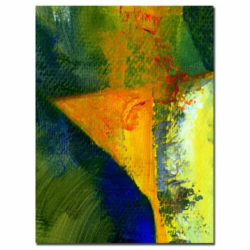 "Trademark Fine Art ""Orange and Blue Color Study"" by Michelle Calkins Painting Print on Canvas"