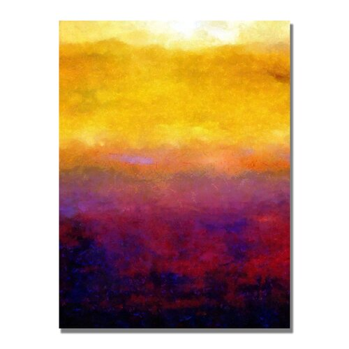 'Golden Sunset' by Michelle Calkins Painting Print on Canvas