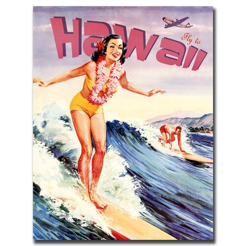 "Trademark Fine Art ""Hawaii Vintage"" Vintage Advertisement on Canvas"