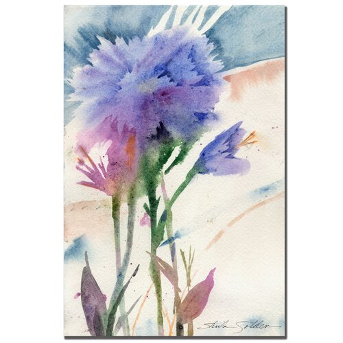 "Trademark Fine Art ""Blue Carnation"" by Sheila Golden Painting Print on Canvas"