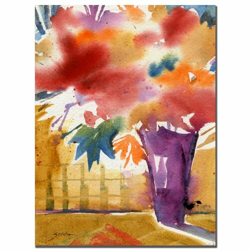 "Trademark Fine Art ""Ochre Wall"" by Sheila Golden Painting Print on Canvas"