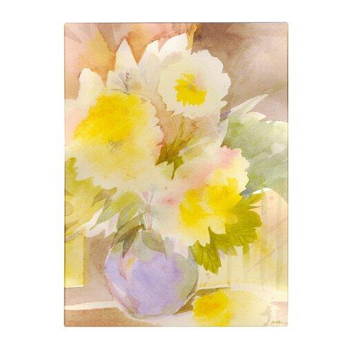 Trademark Fine Art 'Purple Vase' by Sheila Golden Painting Print on Canvas