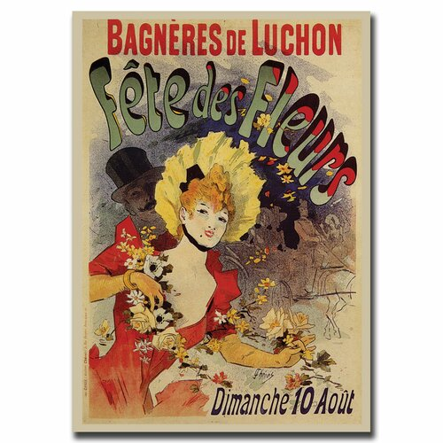Trademark Fine Art 'Fete de Fleurs' Vintage Advertisment on Canvas