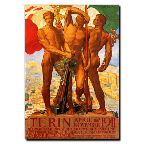 'Turin 1911' Vintage Advertisment on Canvas