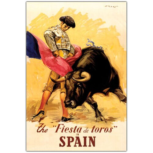 "Trademark Fine Art ""The Fiesta de Toros Spain"" Vintage Advertisement on Canvas"