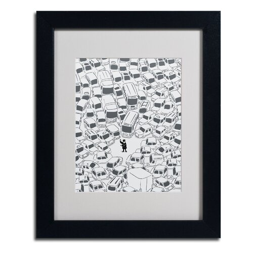 "Trademark Fine Art ""It's a Jam Mr. Police"" by Budi Satria Kwan Framed Painting Print"